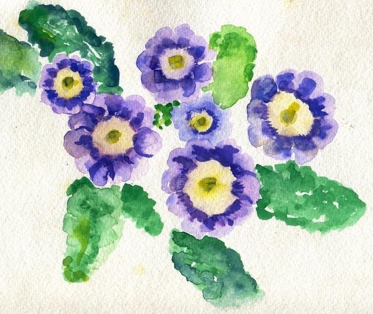 Blue Eyes Watercolor Cotton Pap - havekat | ello