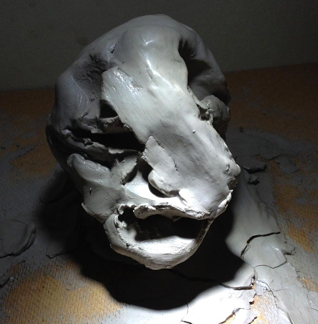 Smooshed clay head - Interestin - laurelbee | ello