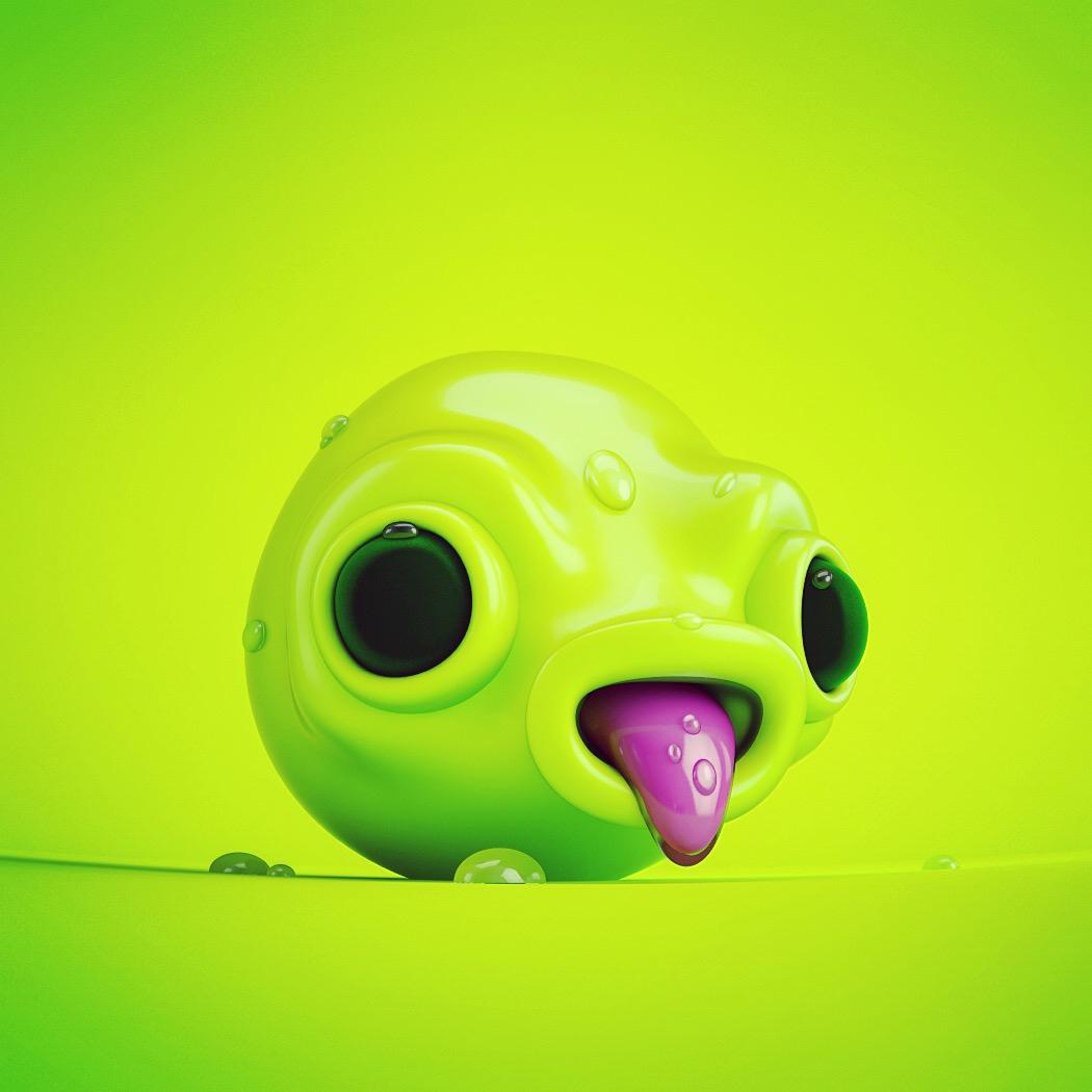 Green Alien Follow  - monster, cinema4d - oscarasecas | ello