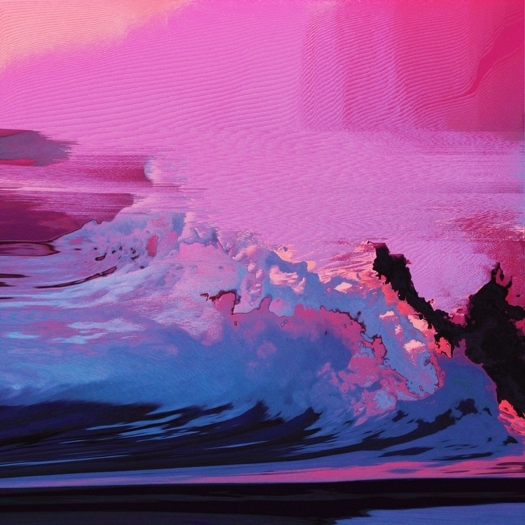 crushing waves - glitch, glitchart - anothere | ello