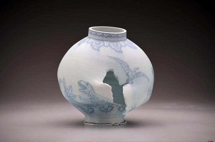 Moon Jar incredible Steven Youn - duanereedgallery   ello