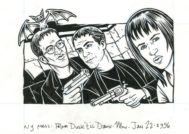 Dusk Til Dawn illo NYPress, 1/2 - dannyhellman | ello