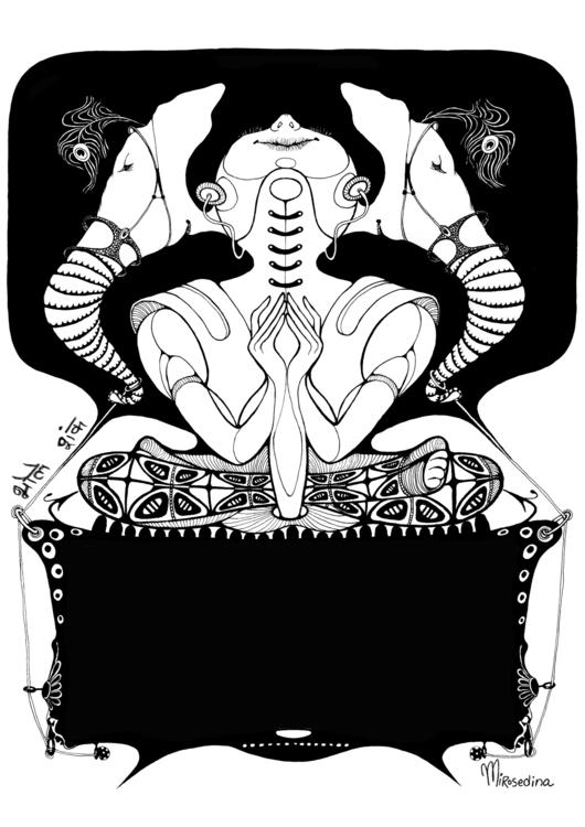 Shiva painted india*  - graphic - mirosedina | ello