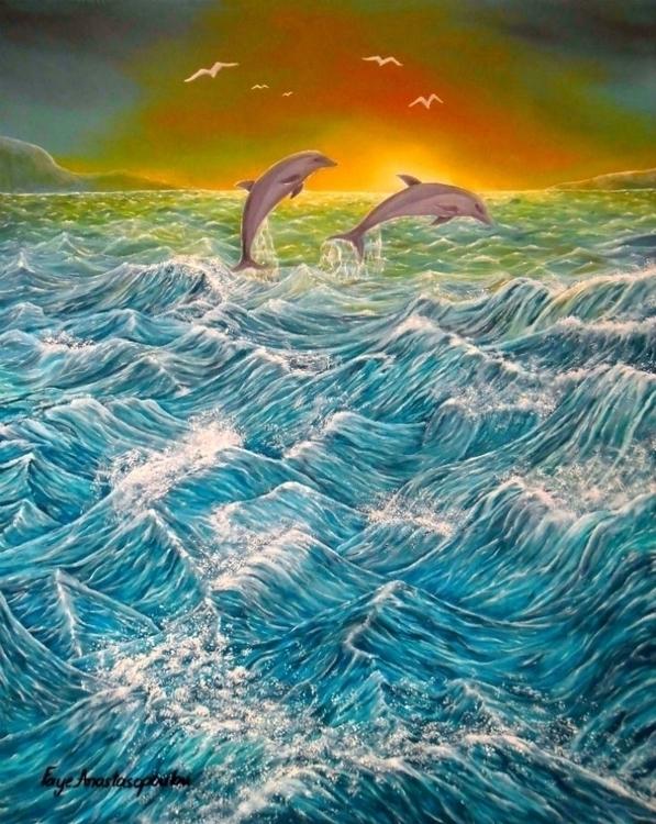 painting, art, prints, ocean - fayeanastasopoulou | ello
