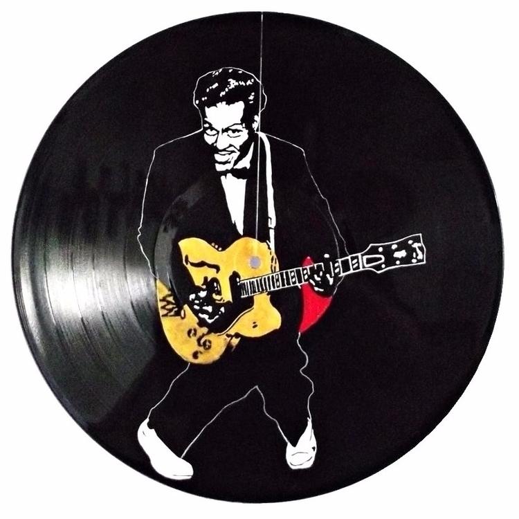 Chuck Berry Acrilic vinyl - arte - ecambuijr | ello