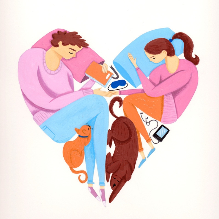 Pet Love - illustration, pets, gouache - alexander_mostov | ello