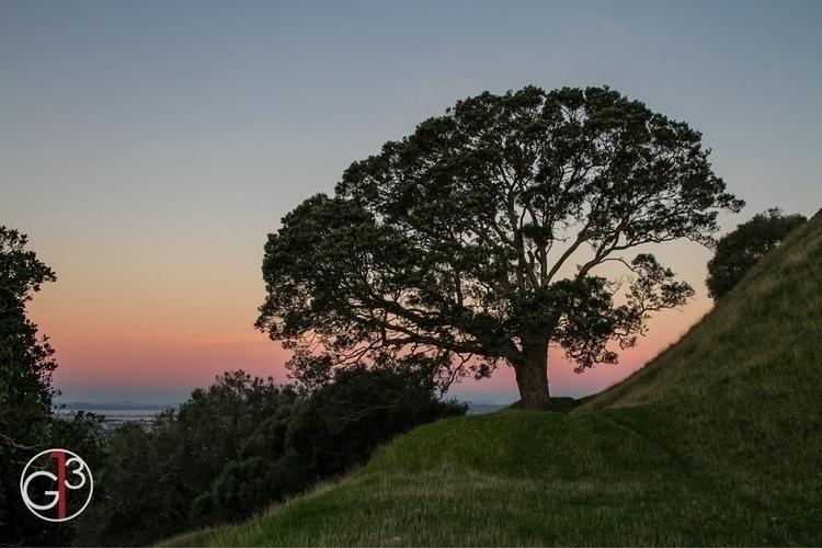 Sunset sky Maungakiekie Aucklan - grantis13 | ello