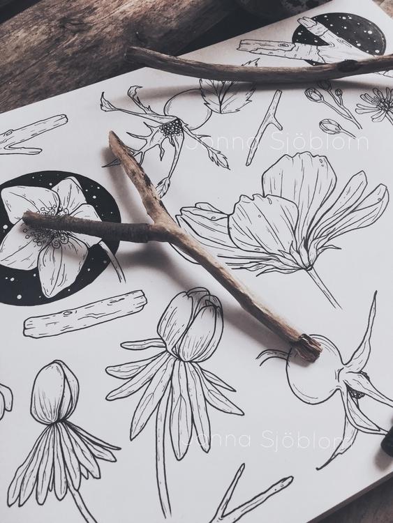 Spring doodles:herb::blue_heart - jonnasjoblom | ello