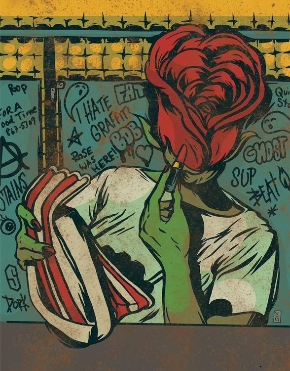 Spring City - illustration - thomcat23 | ello