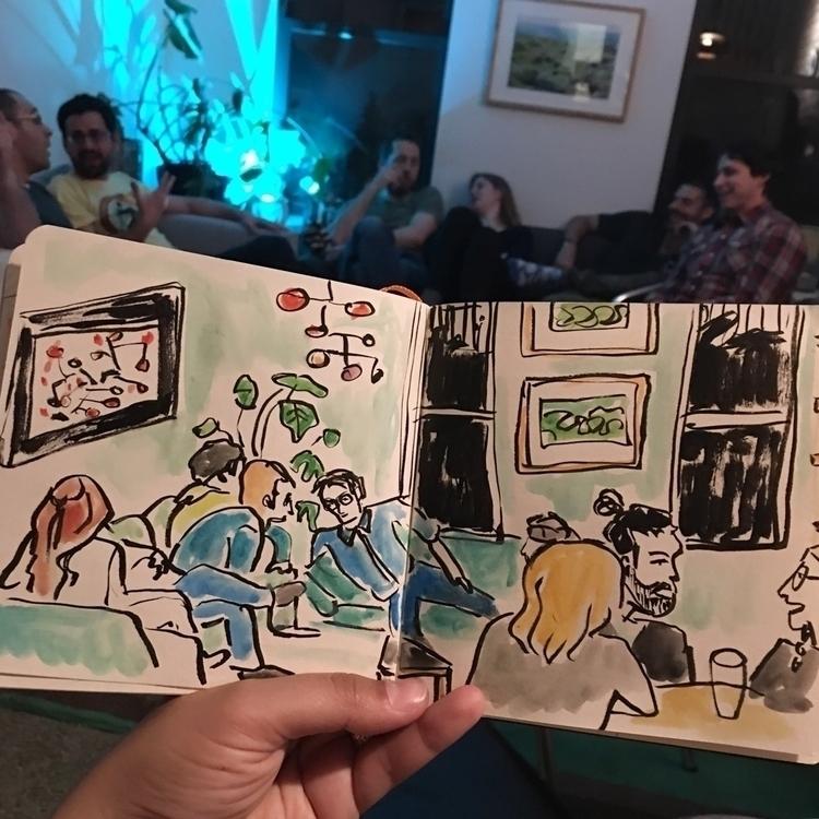Post delicious feast lounging - sketchbook - chenreichert | ello