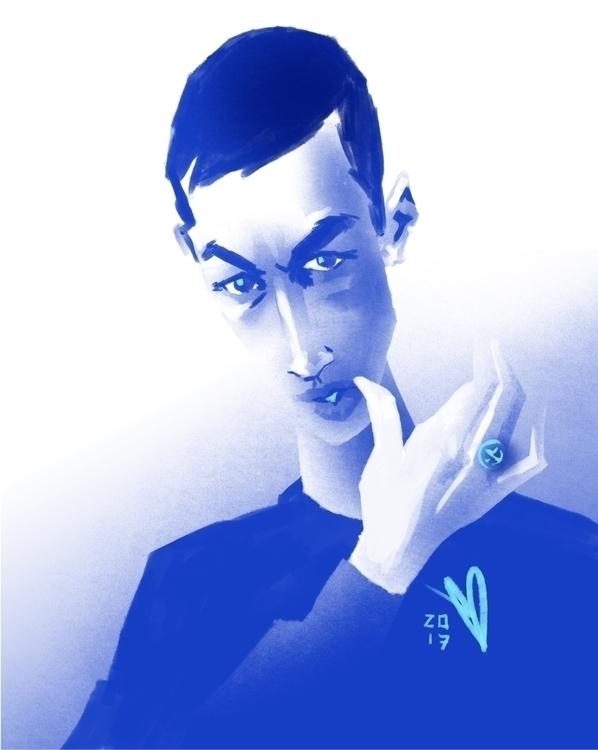 BLUE BOY - portrait, fashion, speedpaint - evandileo | ello