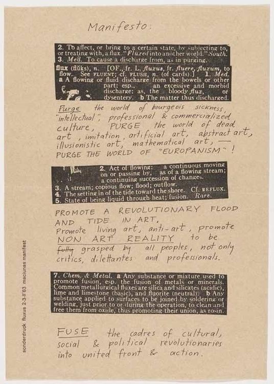 Fluxus Manifesto George Maciuna - p-e-a-c | ello