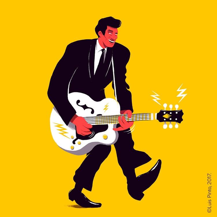 Chuck Berry - graphic tribute,  - luispintos | ello
