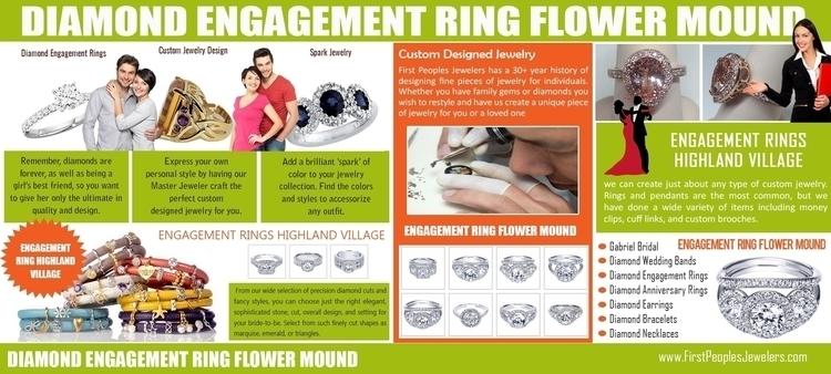 Diamond engagement ring flower  - ringshighlandvillage | ello