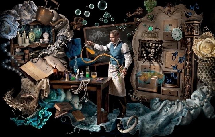 Alchemist, artist portrait surr - ransom_mitchell | ello