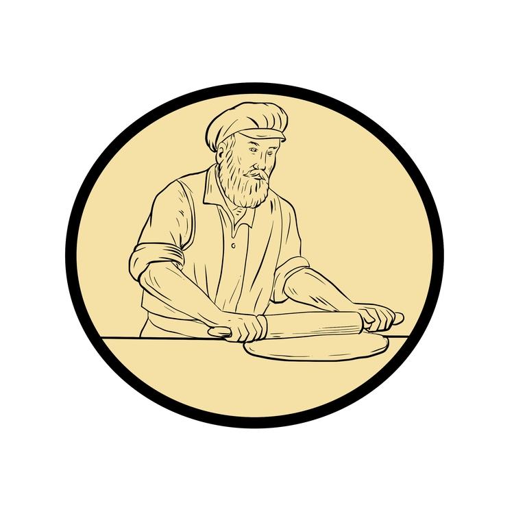 Pin Oval - Medieval, Baker, Rolling - patrimonio   ello
