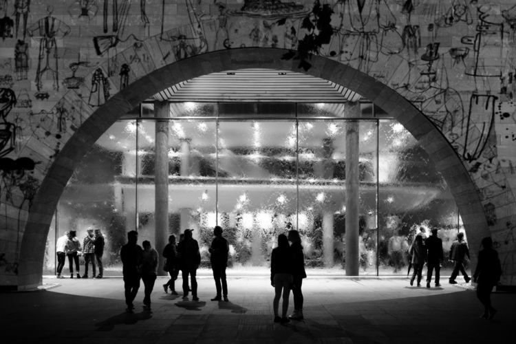 Defaced. projection facade NGV  - realstephenwhite | ello