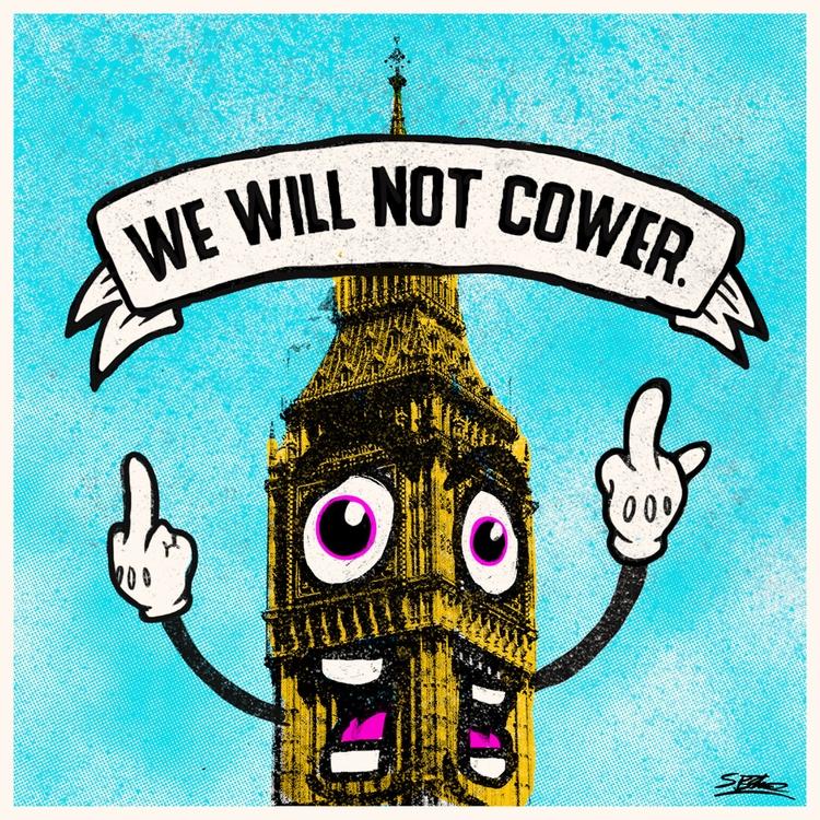 today, city - WeWillNotCower, LondonAttack - samuelbthorne   ello