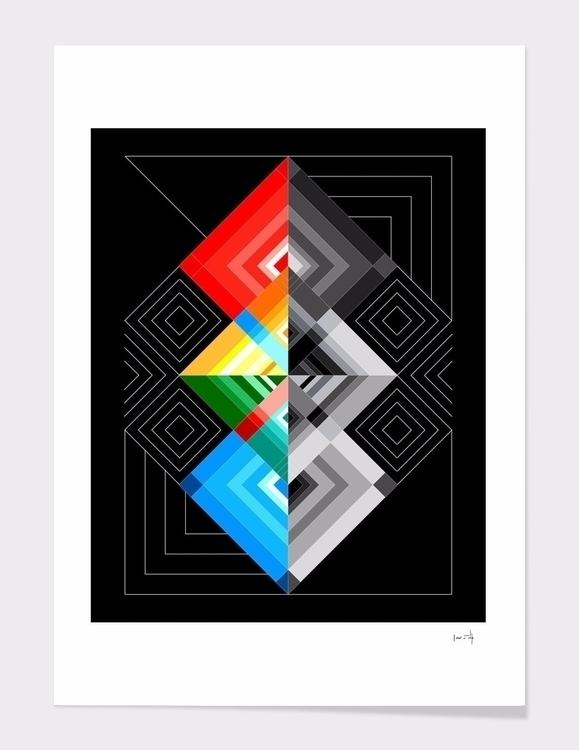 Geometric#01 check art prints - geometric - dettidkun | ello