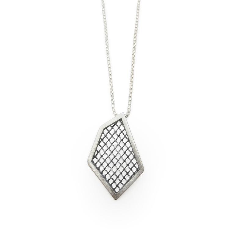 Polygon oxidized mesh - handmade - acebojewelry | ello