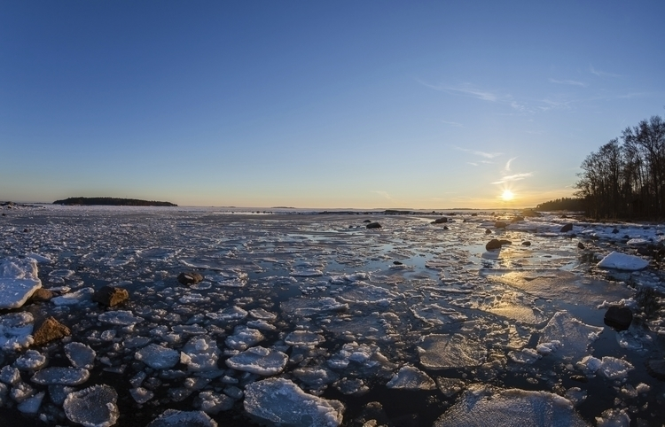 ice smithereens - photography, sunset - anttitassberg | ello