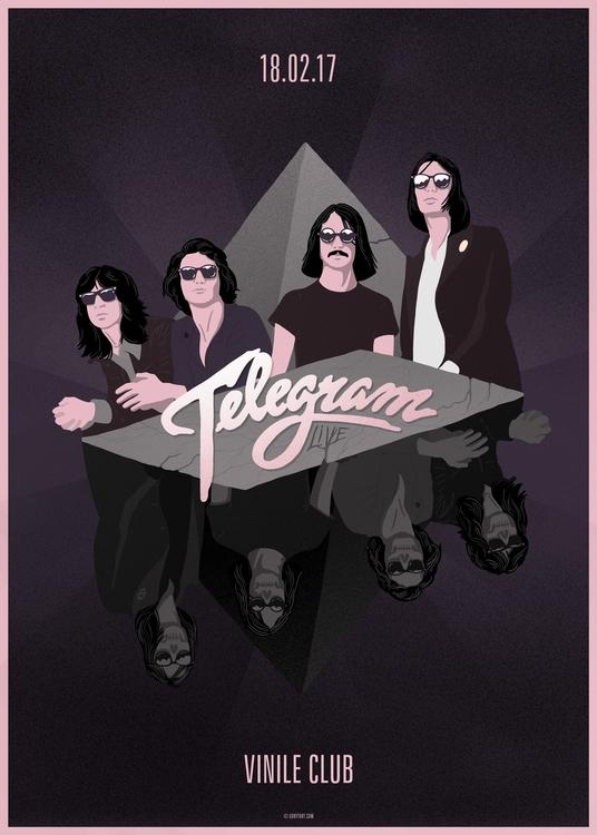 Poster italian indie night Nite - uokytoky   ello