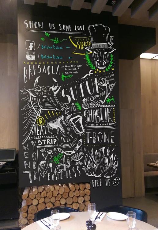 chalkboard, illustration, handlettering - creativebeingdina | ello