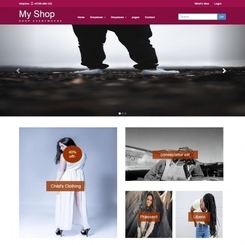 Shopping Cart Template SHOP – O - templateonweb   ello