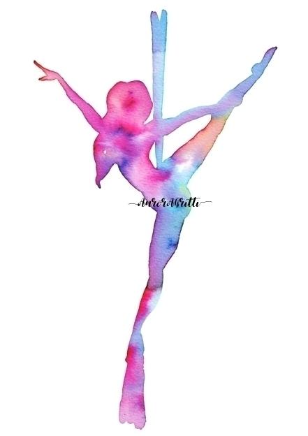 Aerial silks watercolors. Abstr - auroragritti | ello