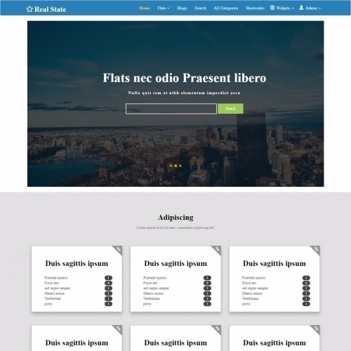Real State bootstrap Template R - templateonweb | ello