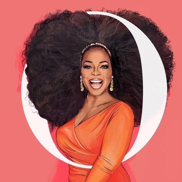 Oprah Illustration - oprah, illustration - fmonroyr | ello