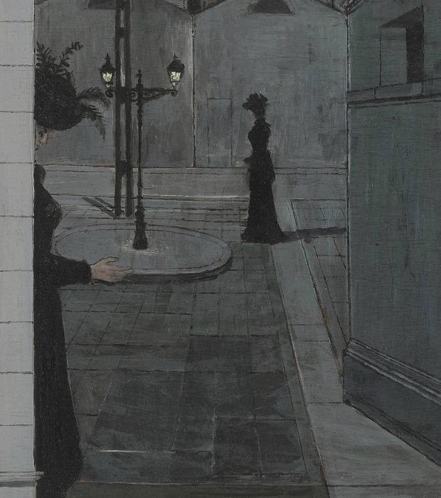 Paul Delvaux - Promenade la nui - modernism_is_crap   ello