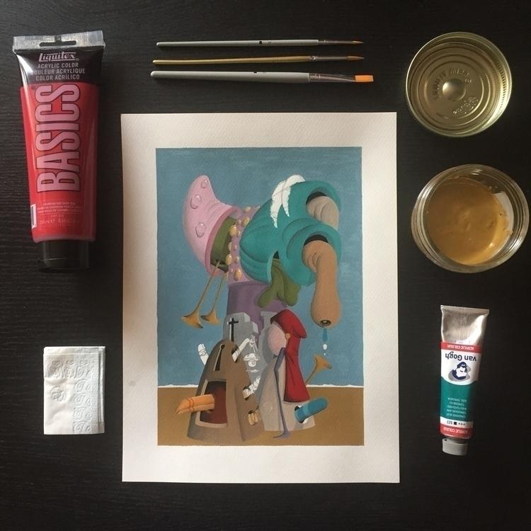 today - painting, art, wip, acrylic - jimmy-p | ello