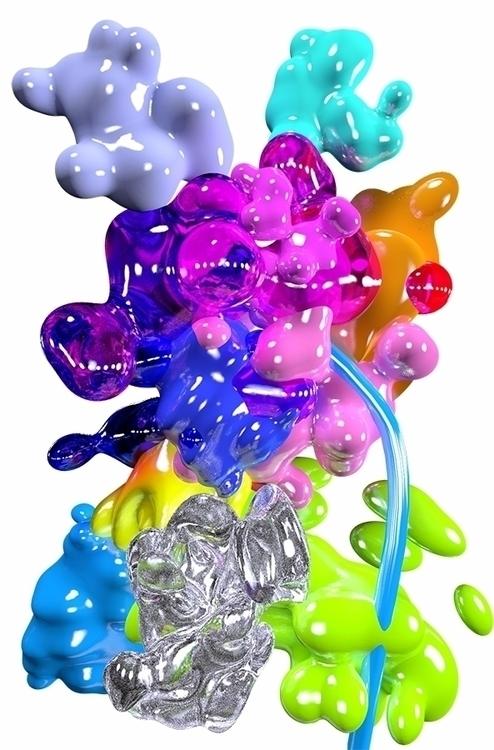 3d, art, blobs, painting, digitalpainting - simonfalk | ello