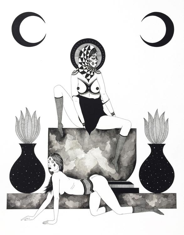 focusing pen ink illustrations  - adrianlandonbrooks | ello
