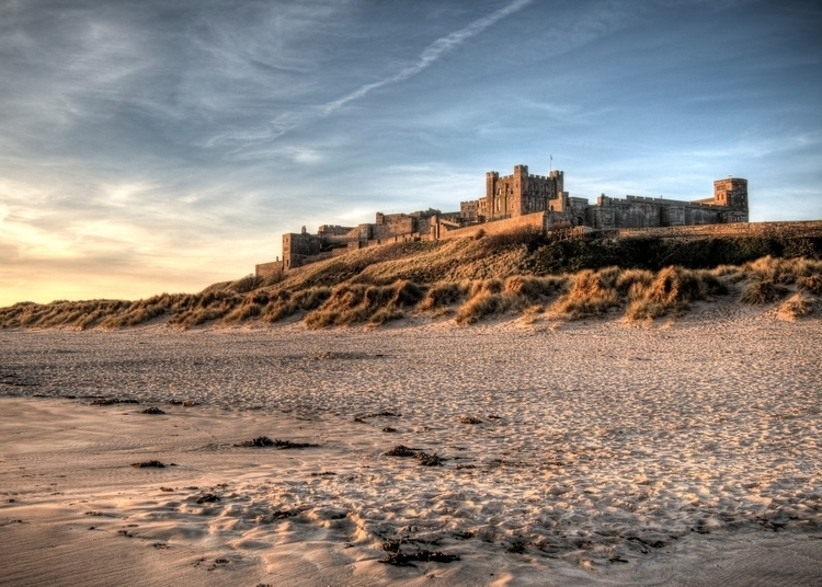 Bamburgh Castle Dawn - braved e - neilhoward | ello