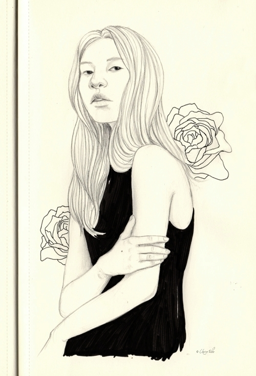 Roses - drawing, sketch, sketchbook - j0eyg1rl | ello