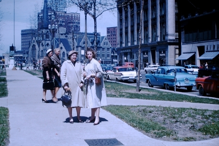Photo - Downtown Detroit, 1958 - marksusina | ello