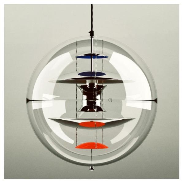 - 'VP Globe' Hanging lamp (1969 - letsdesigndaily | ello