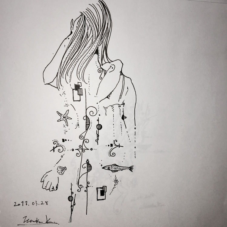 illustration, abstract, drawing - themartiansgirlfriend | ello