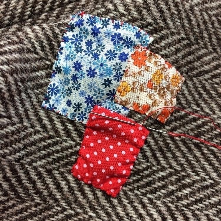 Patching vintage tweed jacket - ilovered - arnolds-attic | ello