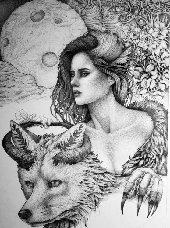 Working bit drawings, love/hate - joshuamenko   ello