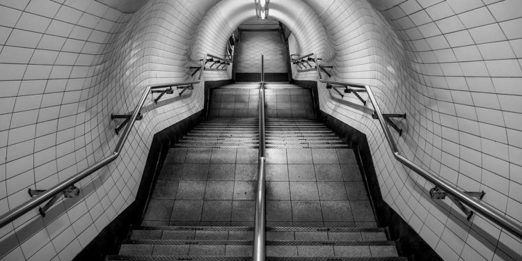 deserted stairs. embankment und - salz | ello
