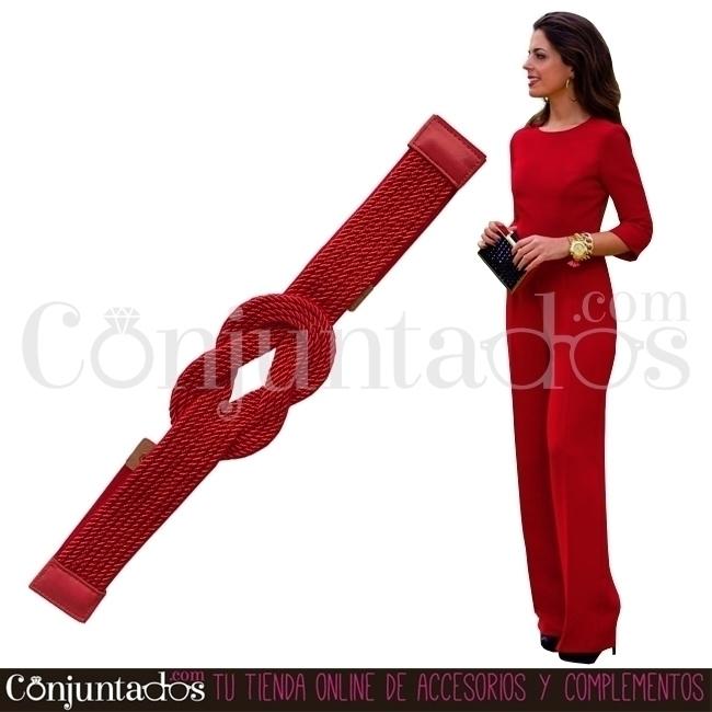 Cinturón-fajín Belte rojo con n - conjuntados_com   ello