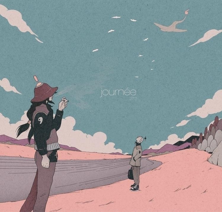 Day 272/365: Sky - illustration - 1sles   ello
