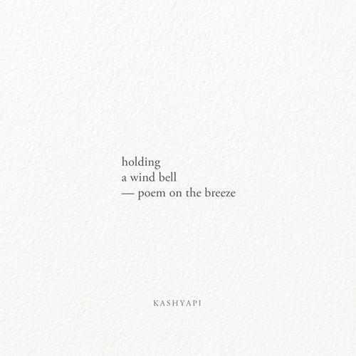 Haiku / holding wind bell — poe - kashyapi   ello