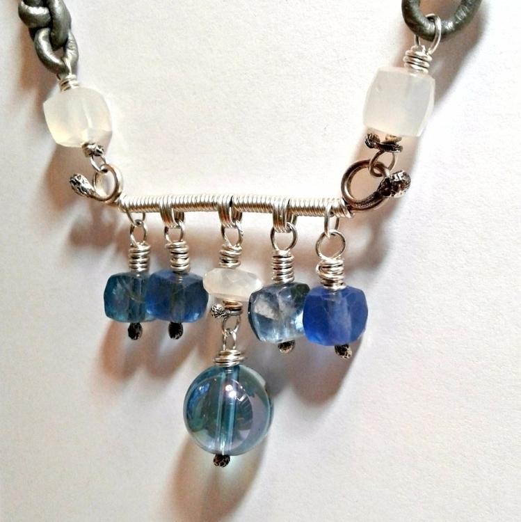 Blue collection necklace Aqua A - amycousinjewelry   ello