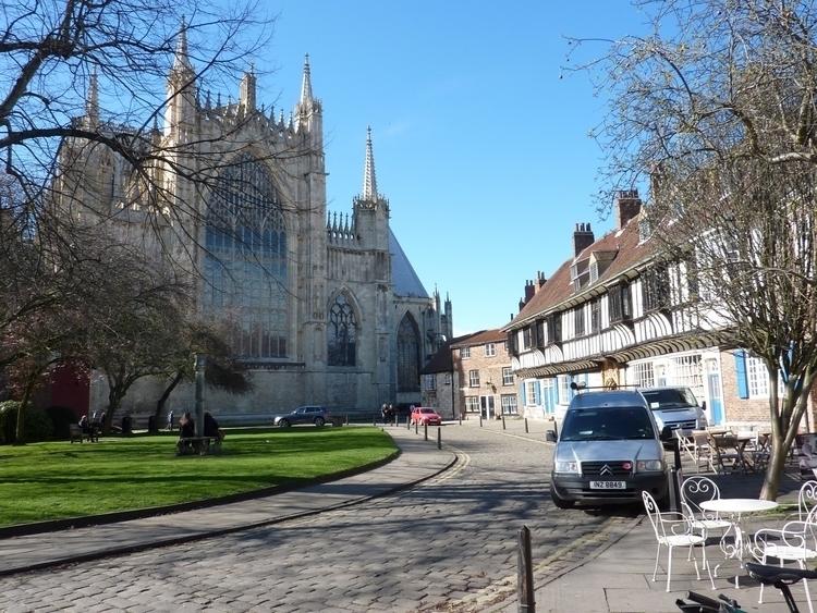 York Minster - cathedral, yorkshire - firehorsetextiles | ello