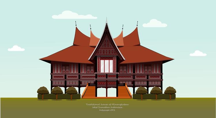 Traditional house Minangkabau t - ozant291 | ello