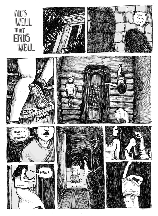Ends - illustration, comic, art - florinda_pam | ello